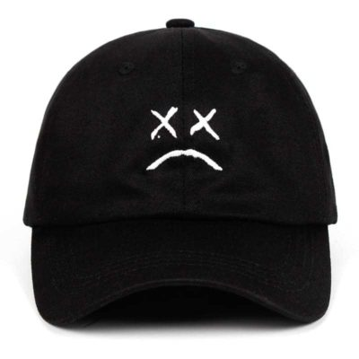 LIL PEEP Sad Face Embroidered Cap