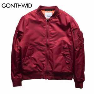 GONTHWID MA1 Bomber Thick Jackets Mens Autumn/Winter Flight Fighter Pilot Coats Men Casual Army Green Military Windproof Jacket