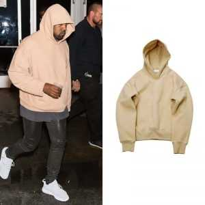KANYE WEST Loose Velvet Fleece Hoodie