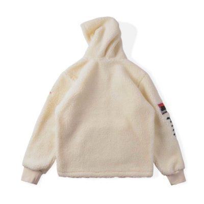 Travis Scott Cactus Trails Half-Zip Sherpa Wool Hoodie